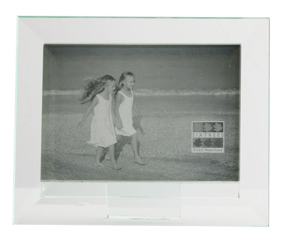 Sixtrees Meadow GT309-35H Bevelled Heavy Glass 5 x 3.5inch Photo Frame.