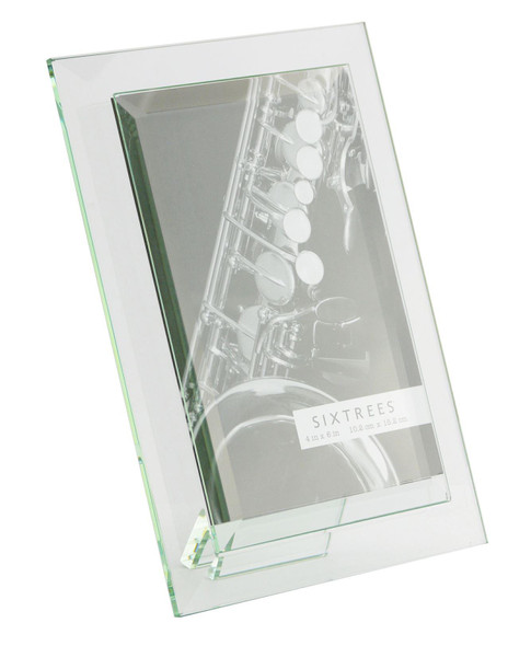 Sixtrees Meadow GT309-35H Bevelled Heavy Glass 4 x 6 inch Photo Frame.