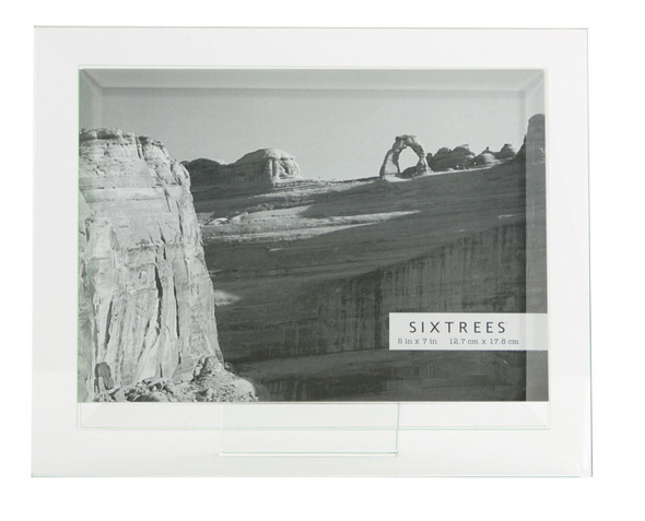Sixtrees Meadow GT309-57H Bevelled Heavy Glass 7 x 5inch Photo Frame.