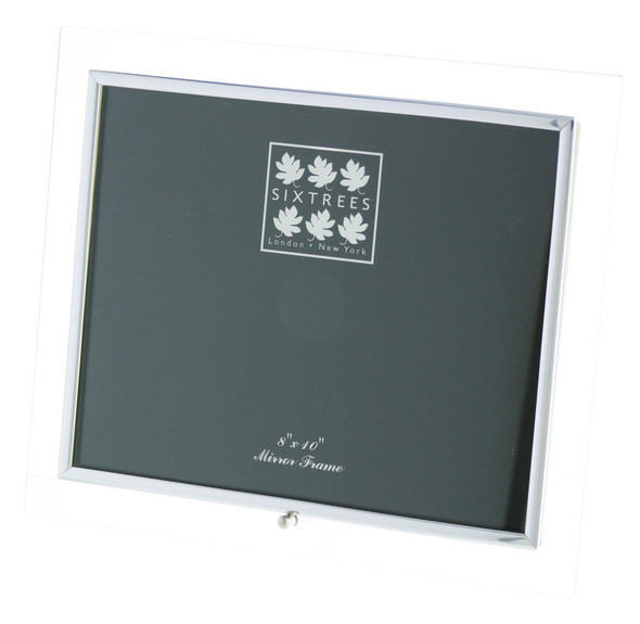 Sixtrees ST128H Flat Bevelled Glass 10 x 8-inch Photo Frame with silver detailing.