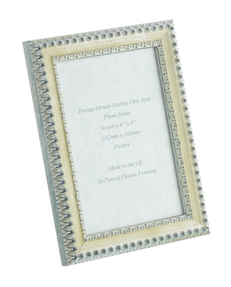 Salzburg Handmade Ornate Distressed Cream and Silver Shabby Chic 6x4 inch Photo Frame.