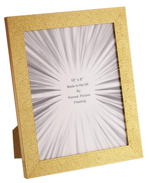 Charleston Shiny Embossed Sparkly Gold 10x8 inch photo frame with mirror effect edge.