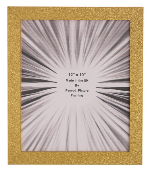 Charleston Shiny Embossed Sparkly Gold 12x10 inch photo frame with mirror effect edge.