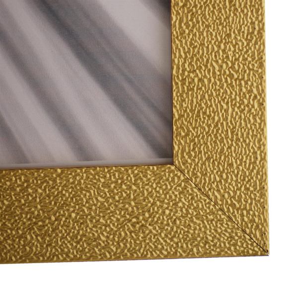 Charleston Shiny Sparkly Embossed Gold 14x11 inch photo frame with mirror effect edge.