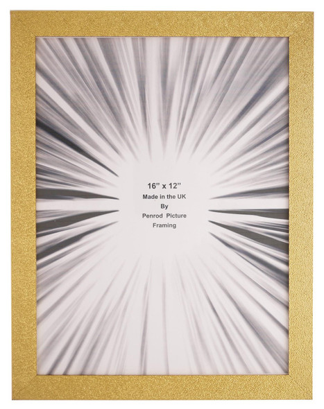 Charleston Shiny Sparkly Embossed Gold 16x12 inch photo frame with mirror effect edge.