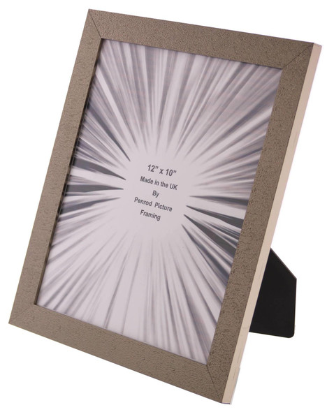 Charleston Shiny Sparkly Embossed Pewter 12x10 inch photo frame with mirror effect edge.