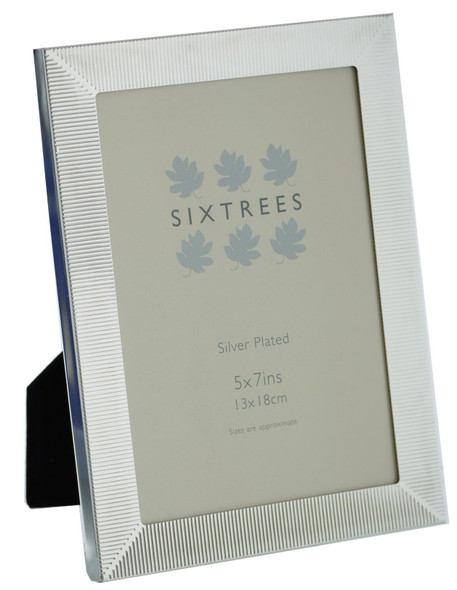 Sixtrees 6-344-57 White Silver Plated 7x5 inch Photo Frame