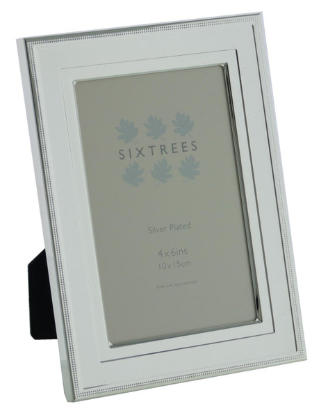 Sixtrees 6-348-46 Drago Silver Plated 6x4 inch Photo Frame
