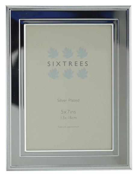 Sixtrees 6-348-57 Drago Silver Plated 7x5 inch Photo Frame