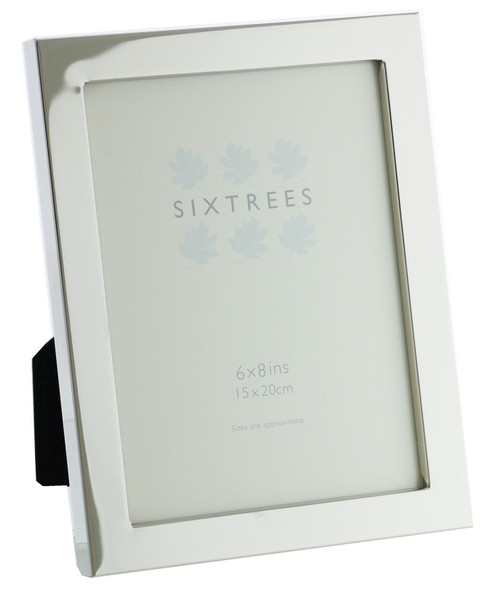Sixtrees Madrid Square edge Silver Plated 8x6 inch Photo Frame