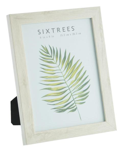Sixtrees Laser WD-206-68 White Oak Finish 6x4 inch Photo Frame