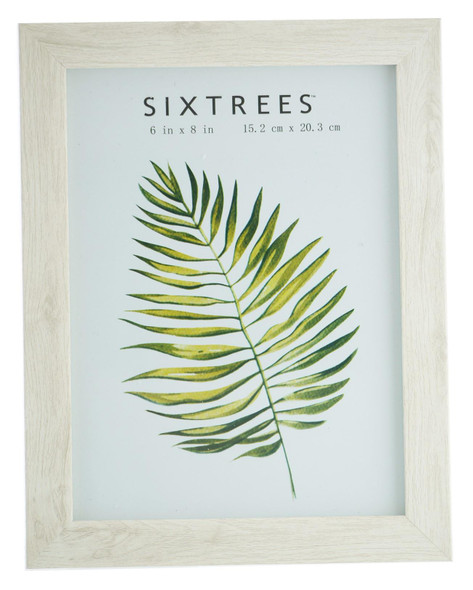 Sixtrees Laser WD-206-68 White Oak Finish 6x4 inch Photo Frame