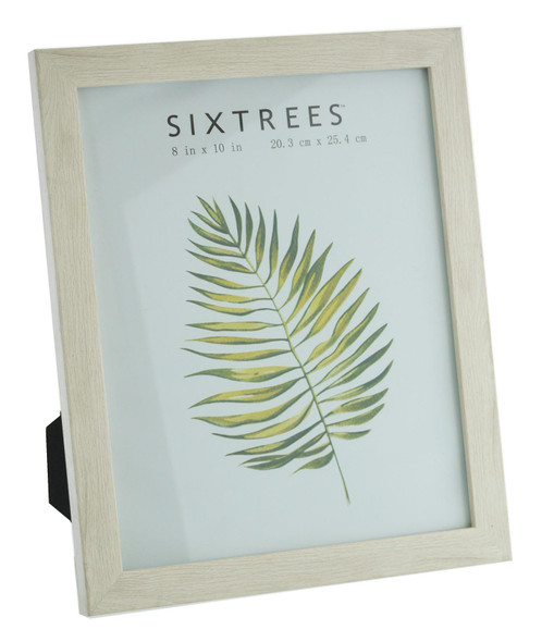 Sixtrees Laser  WD-206-80 White Oak Finish 10x8 inch Photo Frame