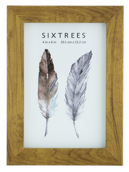Sixtrees Twilight WD-205-46 Light Oak Finish 6x4 inch Photo Frame