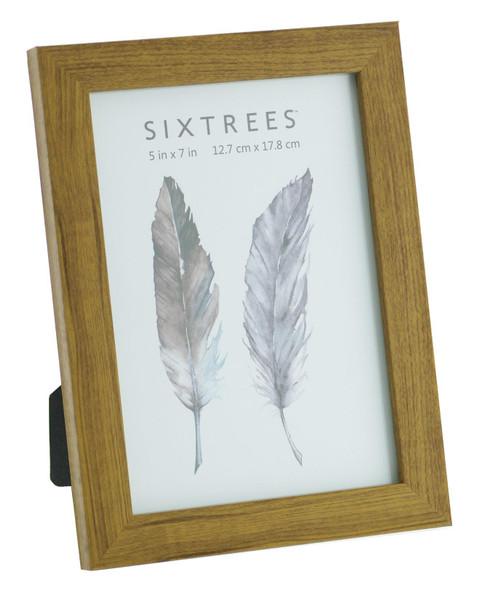 Sixtrees Twilight WD-205-57 Light Oak Finish 7x5 inch Photo Frame
