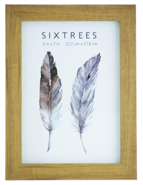Sixtrees Twilight WD-205-57 Light Oak Finish 7x5 inch Photo Frame