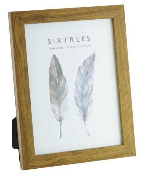 Sixtrees Twilight WD-205-68 Light Oak Finish 8x6 inch Photo Frame