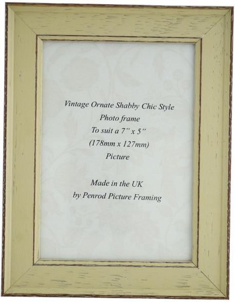 Siena Light Sage 7x5 inch  Handmade Shabby Chic  Photo Frame.