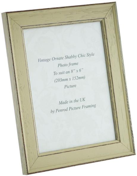 Siena Light Sage 8x6 inch  Handmade Shabby Chic  Photo Frame.
