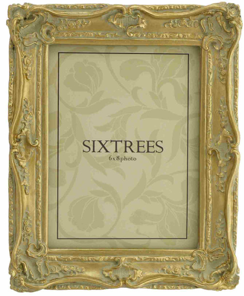 Sixtrees Chelsea 5-250-68 Shabby Chic Style Very Ornate Gold 8x6 inch Photo Frame