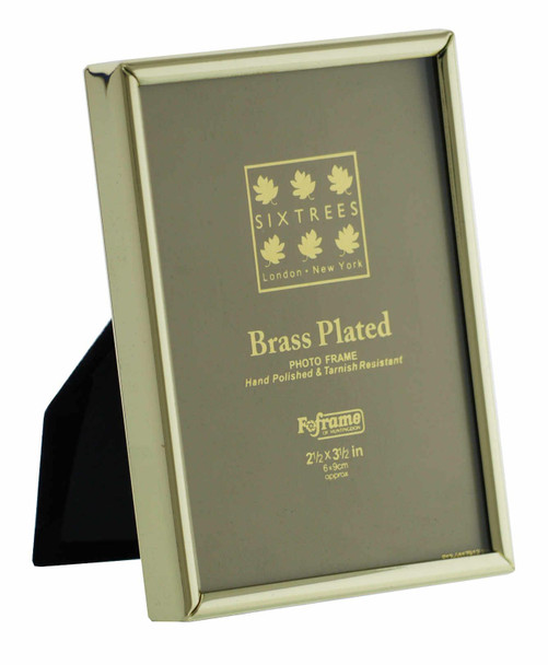 Sixtrees 1-400-23 2.5 x 3.5-inch Hartford Solid Brass Photo Frame