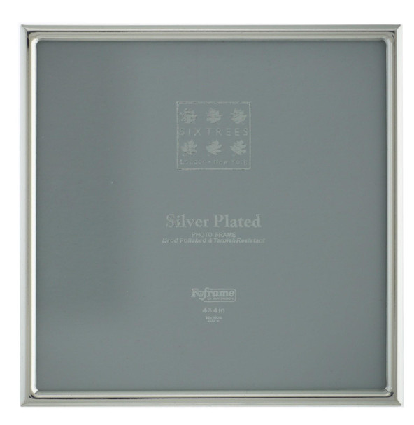 """Sixtrees Cambridge 2-400-44  Silver Plated 4"""" x 4"""" (102x102mm) Photo Frame"""