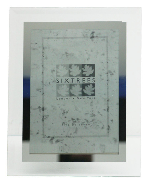 Sixtrees Stanbridge GM175 Bevelled Glass & Mirror Line inset 7x5 inch Photo Frame.