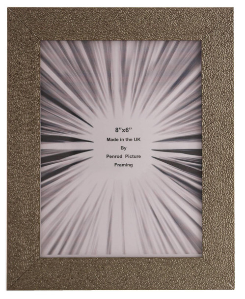 Charleston Shiny Sparkly Embossed Pewter 8x6 inch photo frame with mirror effect edge.