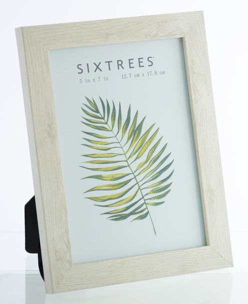 Sixtrees WD-206-57 Laser White Finish 7x5 inch Photo Frame