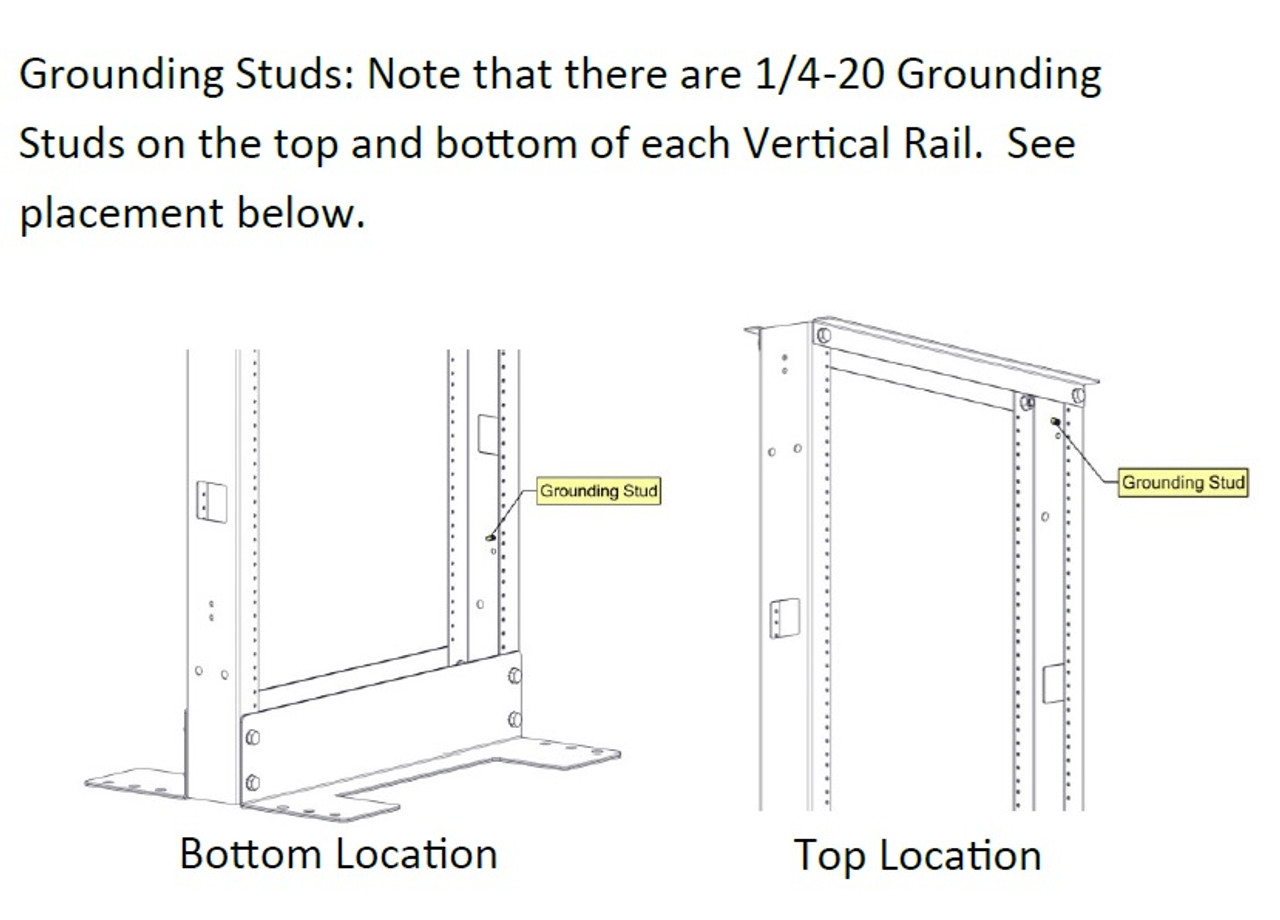 Buy Grounding Rack Grounding Studs Tapped Rails