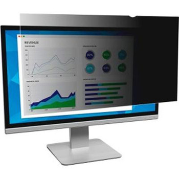 """3M Privacy Filter Black, Matte, Glossy - For 21.5"""" Widescreen Monitor"""