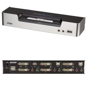 ATEN 2-Port USB DVI Dual View KVMP Switch-TAA Compliant