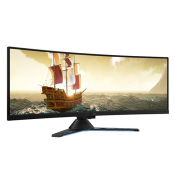 "Lenovo Legion Y44w-10 43.4"" DWUXGA Curved Screen WLED Gaming LCD Monitor - 32:10 - Raven, Black"