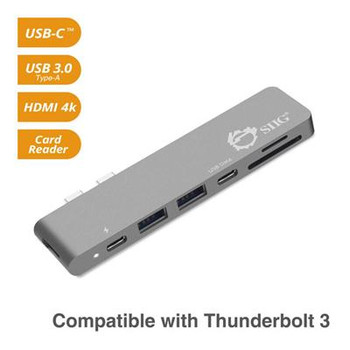 SIIG Thunderbolt 3 USB-C Hub HDMI with Card Reader & PD Adapter - Space Gray