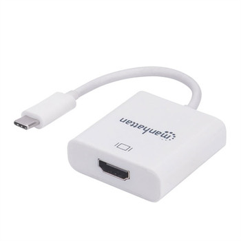 Manhattan Products SuperSpeed+ USB 3.1 Gen 2 USB-C Male to HDMI Female Converter, White