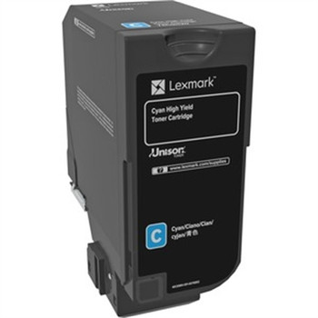 Lexmark Original Toner Cartridge - Laser - Cyan