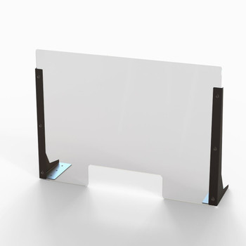 """Acrylic Cough & Sneeze Barrier - 24"""" Wide/18"""" Height"""