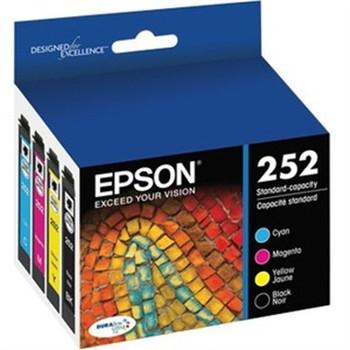 Epson DURABrite Ultra T252 Ink Cartridge - Cyan, Black, Magenta, Yellow