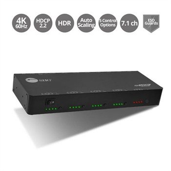 SIIG 4x4 HDMI 2.0 4K HDR Matrix Switch with Cloud Control