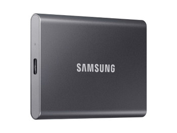 Samsung T7 MU-PC1T0T/AM 1 TB Portable Solid State Drive - External - PCI Express NVMe - Titan Gray