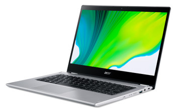 """Acer Spin 3 SP314-54N SP314-54N-50W3 14"""" Touchscreen 2 in 1 Notebook - Full HD - 1920 x 1080 - Intel Core i5 (10th Gen) i5-1035G4 Quad-core (4 Core) 1.10 GHz - 8 GB RAM - 512 GB SSD - Pure Silver"""