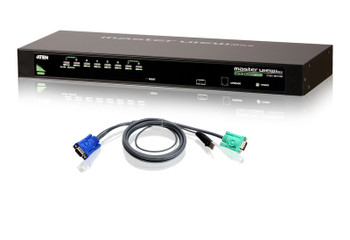 Aten CS1308KIT KVM Switch 8 x 1 - 8 x SPHD-15 Keyboard/Mouse/Video - 1U - Rack-mountable