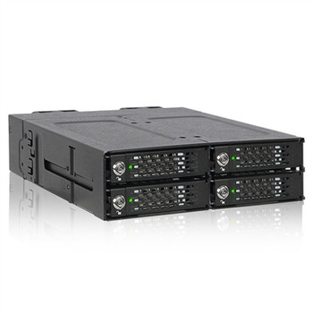 "Icy Dock ToughArmor MB720M2K-B Drive Enclosure for 5.25"" M.2, PCI Express NVMe - Mini-SAS HD Host Interface Internal - Black"