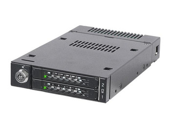 "Icy Dock ToughArmor MB834M2K-B Drive Enclosure for 3.5"" M.2, PCI Express NVMe - Mini-SAS HD Host Interface Internal - Black"