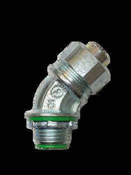 "Anaconda Sealtite® 3/8"" Iron Steel (Lock Nut) Compact Liquid-Tight Flexible 90° Metal Conduit (LFMC) Elbow"