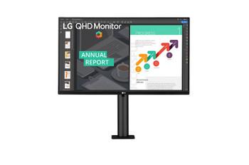 """LG 27BN88Q-B 27"""" WQHD LCD Monitor - 16:9 - Textured Black"""