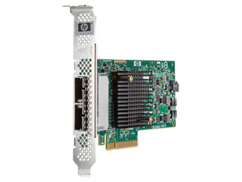 HPE SC08e 8-port SAS Controller - PCI Express - Plug-in Card - 2 Total SAS Port(s) - 2 SAS Port(s) Internal - 2 SAS Port(s) External