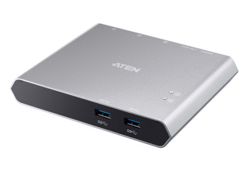 Aten 2-Port USB-C Gen 1 Dock Switch with Power Pass-through