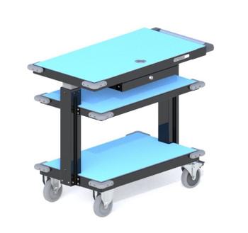 Kendall Howard Adjustable ESD Mobile Cart