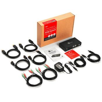 SIIG 2 Port 4K HDMI 2.0 Dual-Head Console KVM Switch with USB 2.0